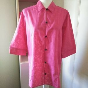 Columbia Pink Button Down Blouse